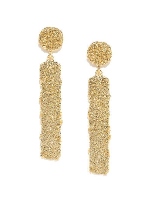 Gold-Toned Geometric Drop Earrings