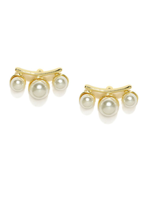 Gold-Toned Quirky Studs
