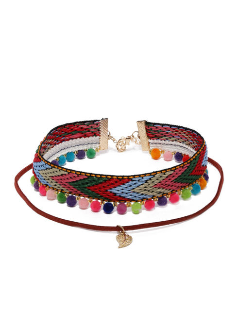 Women Multicoloured Choker Necklace