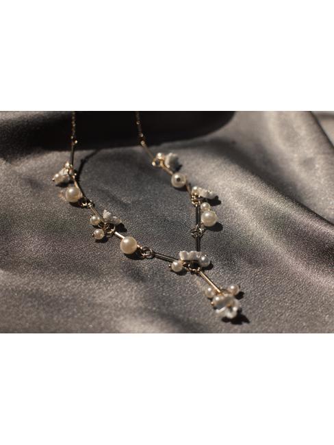 Gold-Toned & White Minimal Necklace