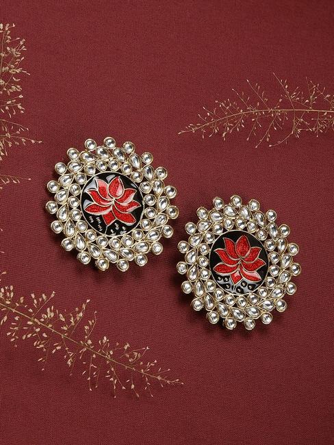 Red Utpala Earring