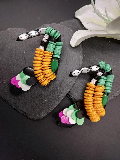 Multicolor Parrot Stud Earrings