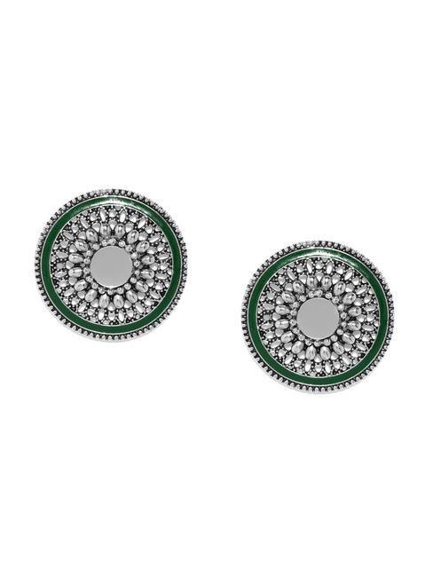 Silver Shield Mirror Earring