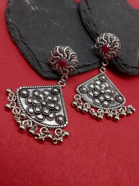Silver Triangle Earring