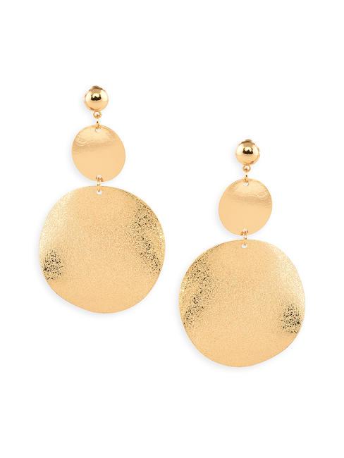 Toniq Gold Classic Circle Drop Earrings For Women