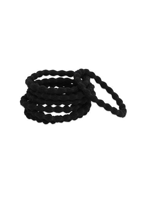 ToniQ Set Of 7 Black Rubberband For Women.