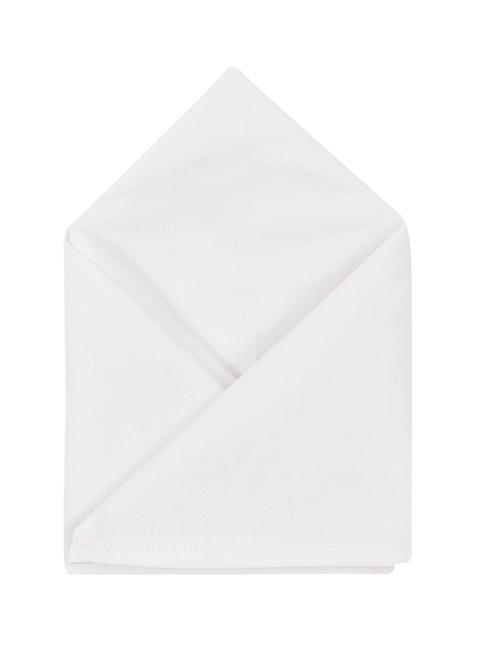 Brocode Classic Mens Pure White 100 % Cotton Pocket Square