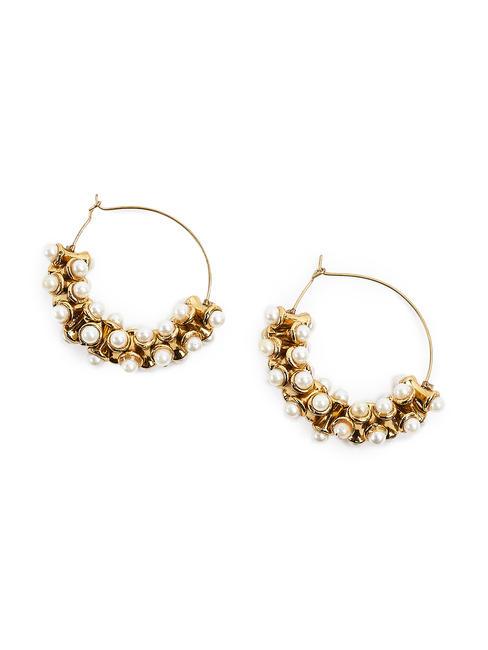 Fida Ethnic Indian Traditional Beautiful Pearl Hoop Earrings For Women