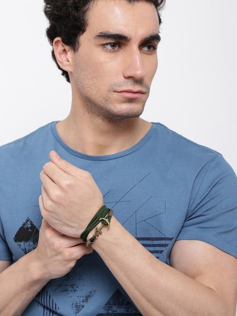 Men Dark Green Bracelet