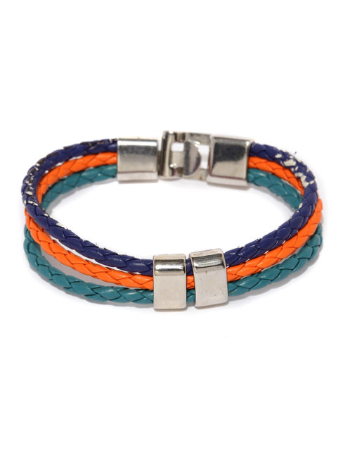 Men Blue  Orange Bracelet-ONESIZE-Blue