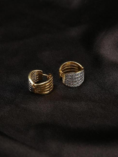 Gold-Toned Ceeran Circular Studs