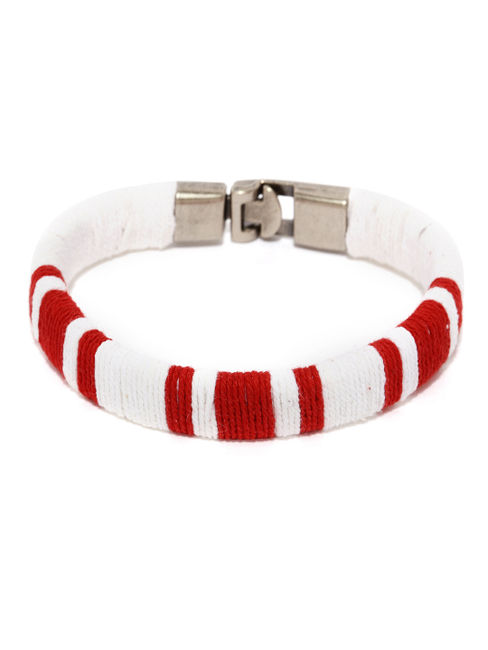 White and Red Bracelet Band