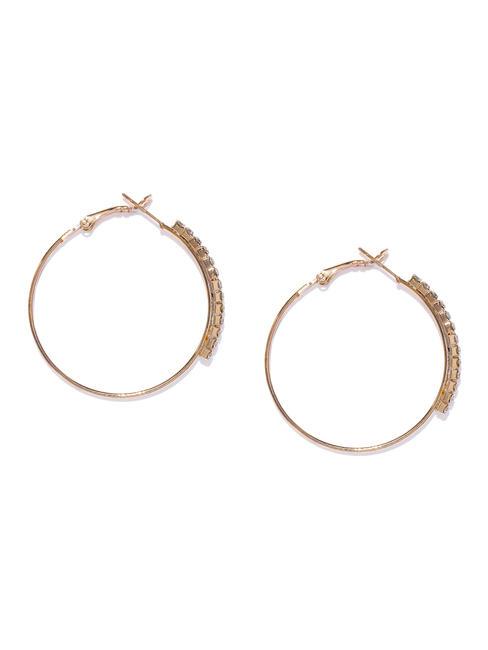 Gold-Toned Circular Hoop Earrings