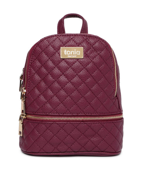 Maroon Quilt It Backpack