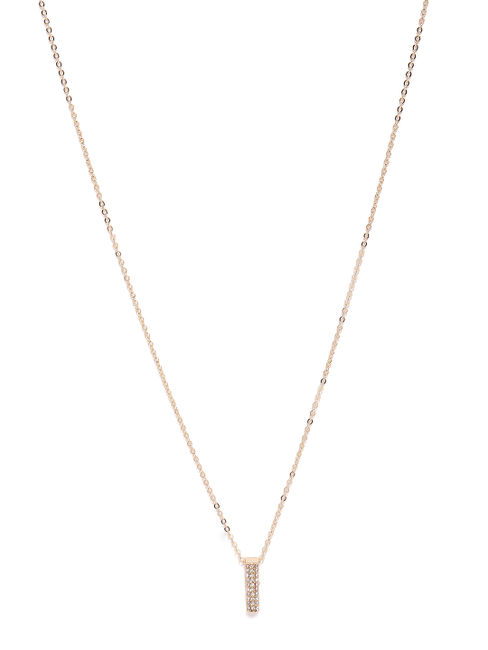 Gold-Toned Quirky Shaped Pendant With Chain