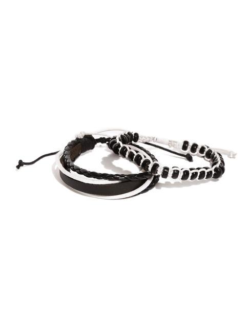 Men Set Of 2 Black & White Bracelets