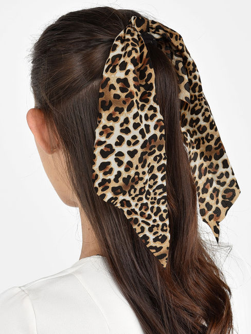 ToniQ Roar Animal Print Hair Scarf Rubberband