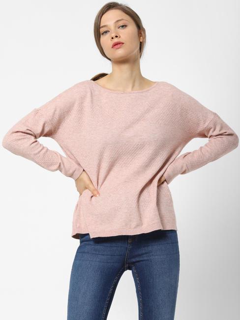 Pink Drop Shoulder Pullover