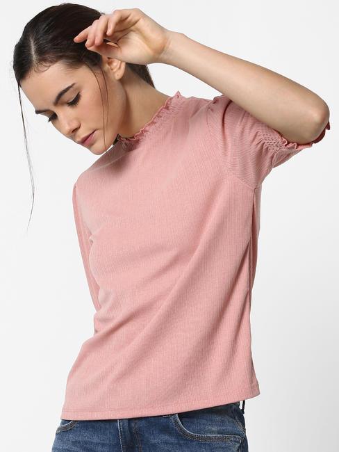 Pink Smock Sleeves Top