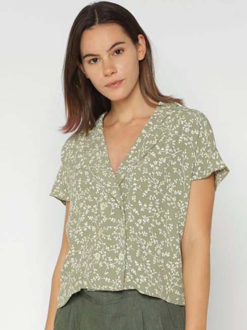 Green All Over Print Shirt