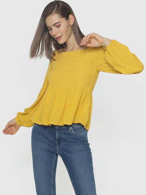 Yellow Smock Top