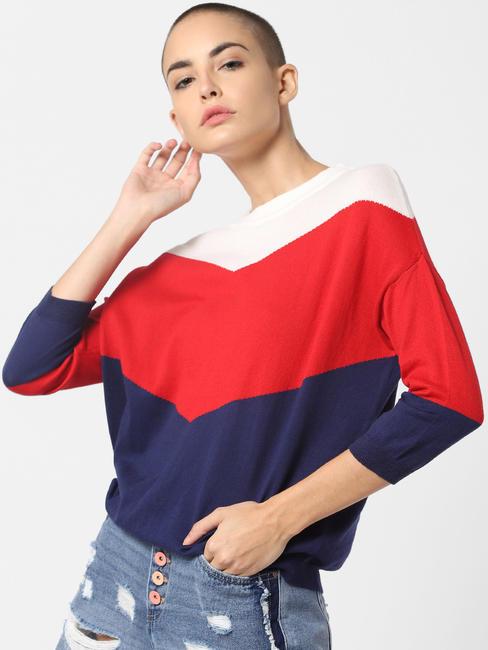 X Tokidoki White Colourblocked Pullover