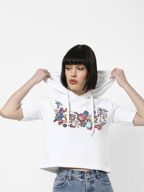 x Tokidoki White Tokidoki Characters Print Sweatshirt