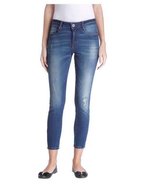 Dark Blue High Wasited Regular Jeans