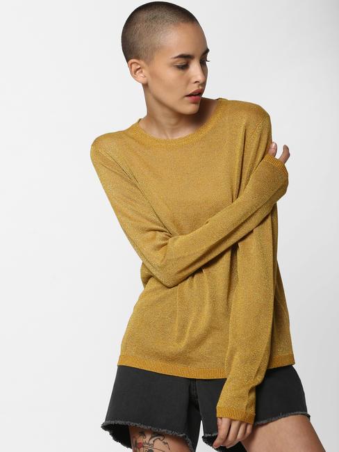 Mustard Shimmer Pullover