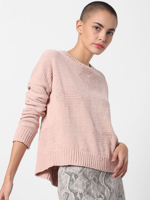 Pink Loose Fit Pullover