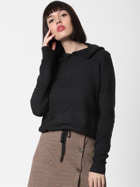 Dark Grey Hooded Pullover