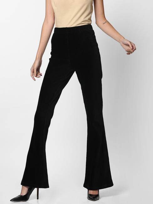 Black High Rise Flared Pants