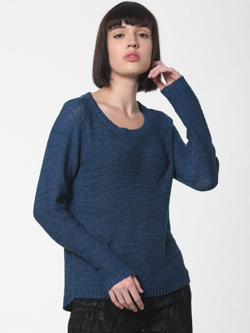 Blue Fitted Pullover
