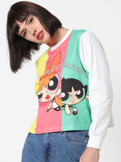 x The Powerpuff Girls Graphic Print Sweatshirt