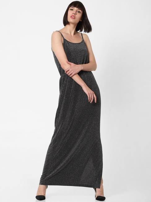 Silver Shimmer Maxi Dress