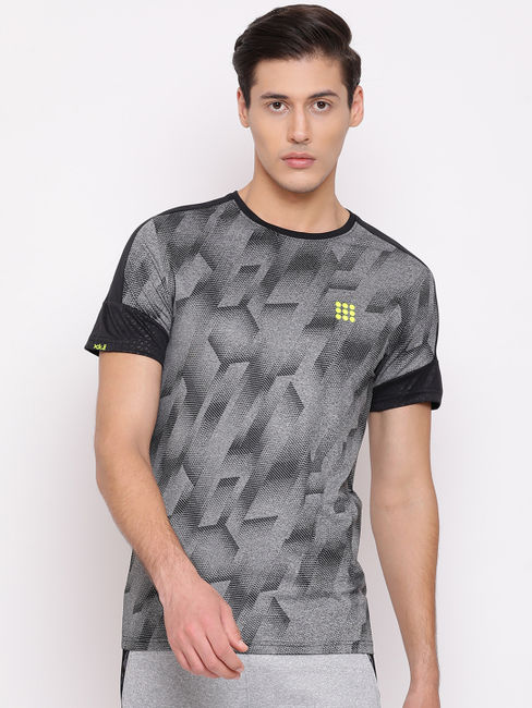 Rockit Lt.Grey Round Neck Smart Fit T-Shirt