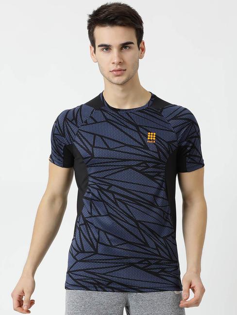 Rockit Navy Round Neck Regular Fit T-Shirt