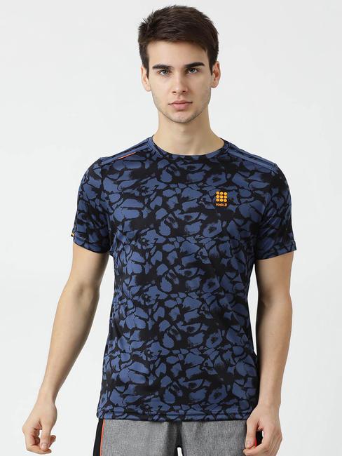 Rockit Navy V Neck Regular Fit T-Shirt