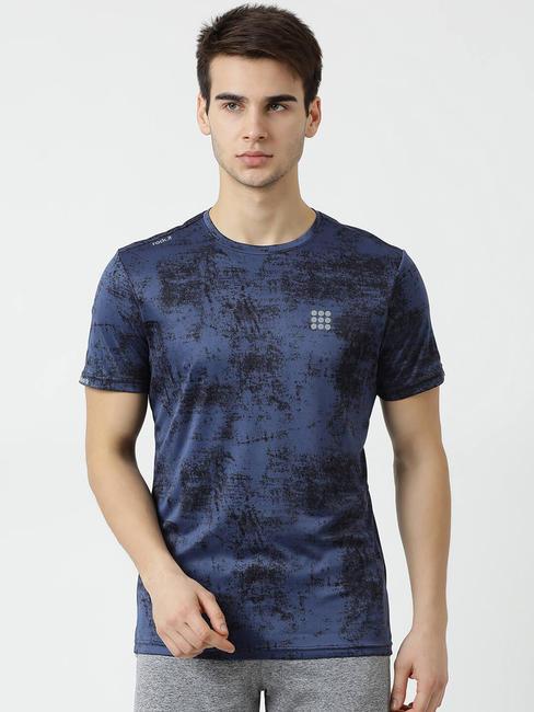 Rockit Green Round Neck Regular Fit T-Shirt