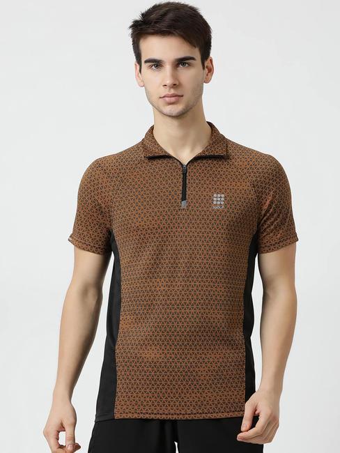 Rockit Mustard T-Neck Regular Fit T-Shirt