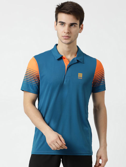 Rockit Blue Collar Regular Fit T-Shirt