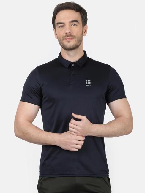 Rockit Navy Collar Regular Fit T-Shirt