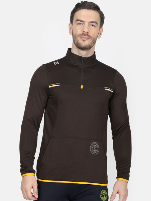 Rockit Brown Collar Regular Fit Sweatshirt