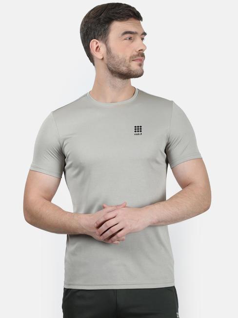 Rockit Grey Mel. Round Neck Regular Fit T-Shirt