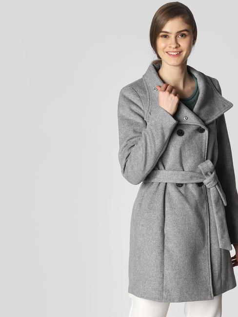 Light Grey Belted Coat