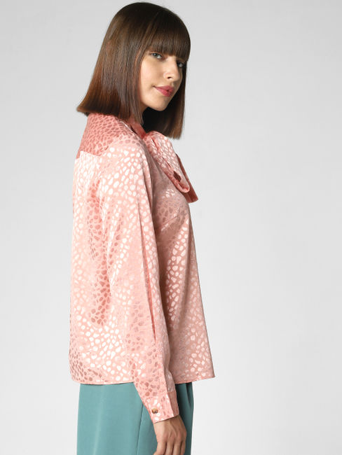 Peach Printed Shirt