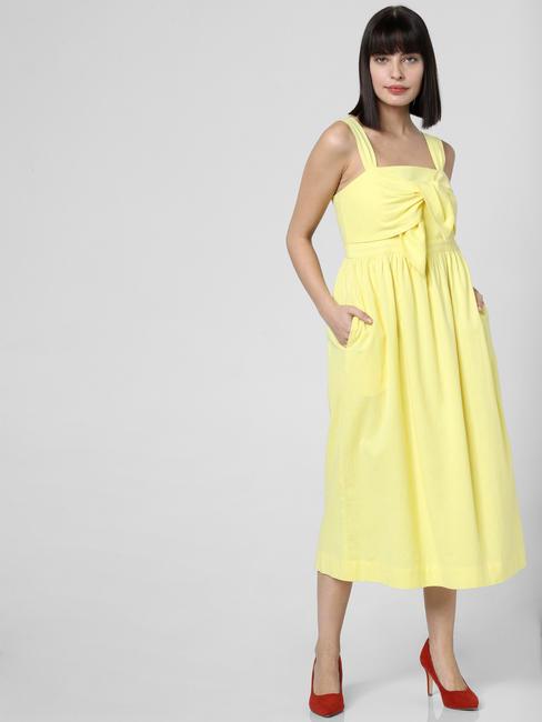 Lemon Yellow Midi Dress