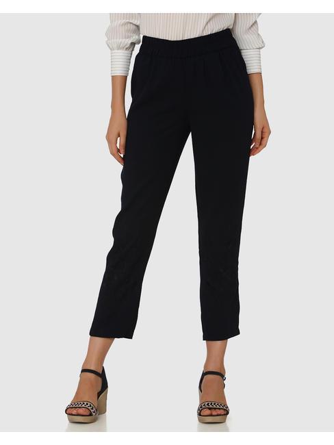 Navy Blue Elasticated Waist Pants