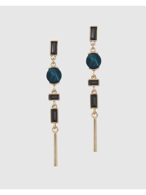 Golden Studded Drop Earrings