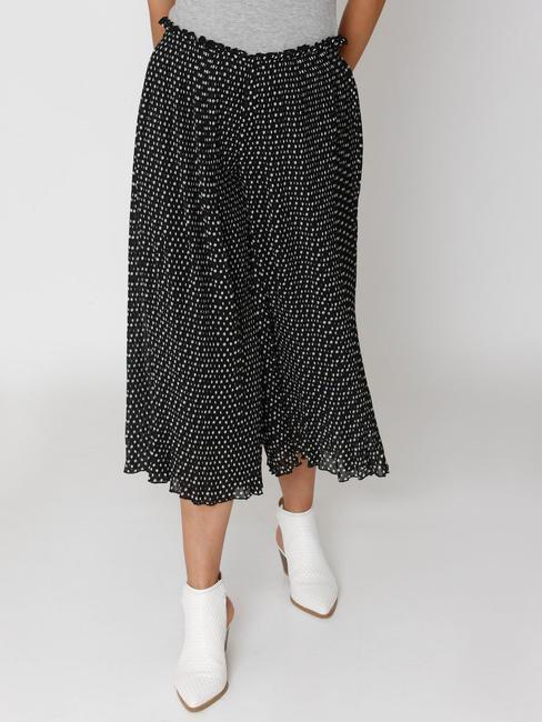 Black Polka Dot Print Culottes